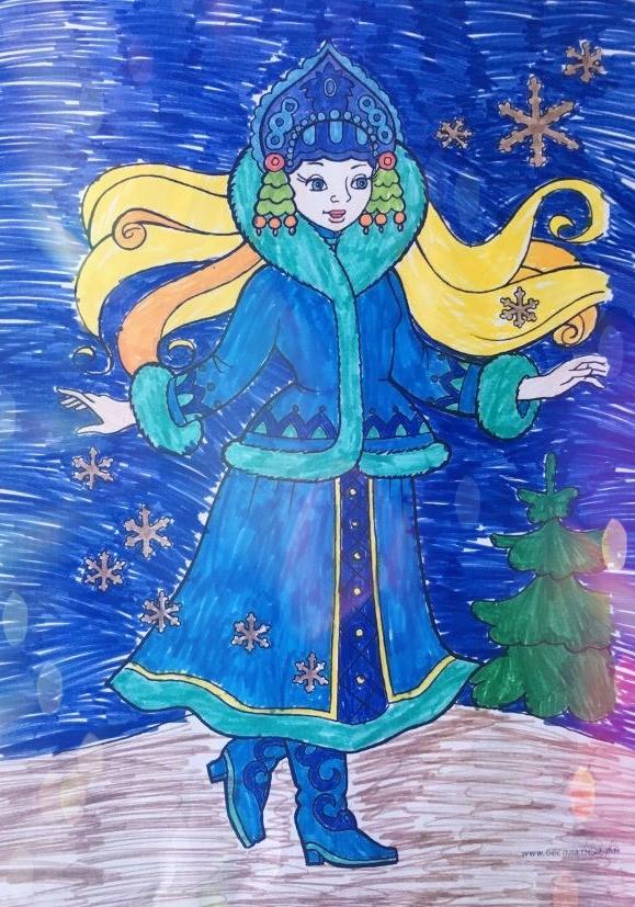 Снегурочка из русской народной сказки картинки